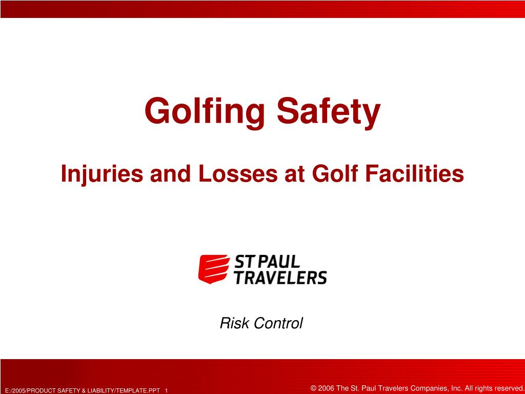 golfing safety injuries and losses at golf facilities l.