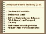 computer based training cbt