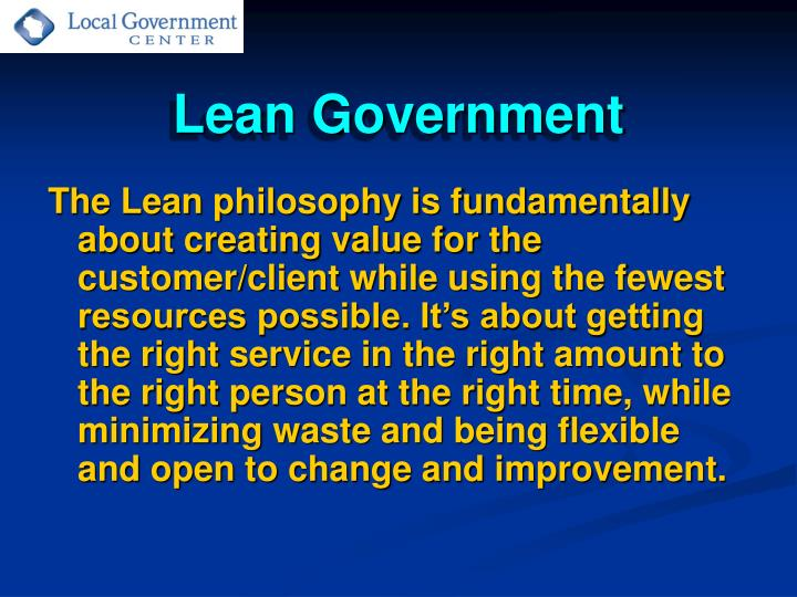 Lean government