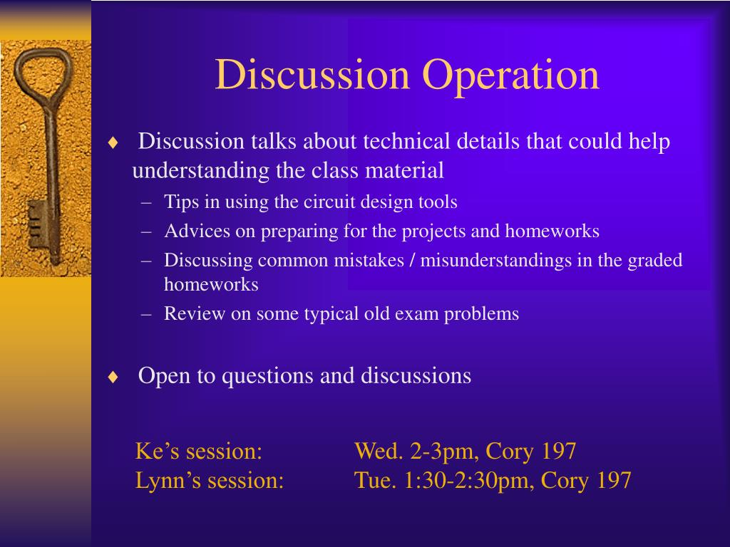 Discussion Operation