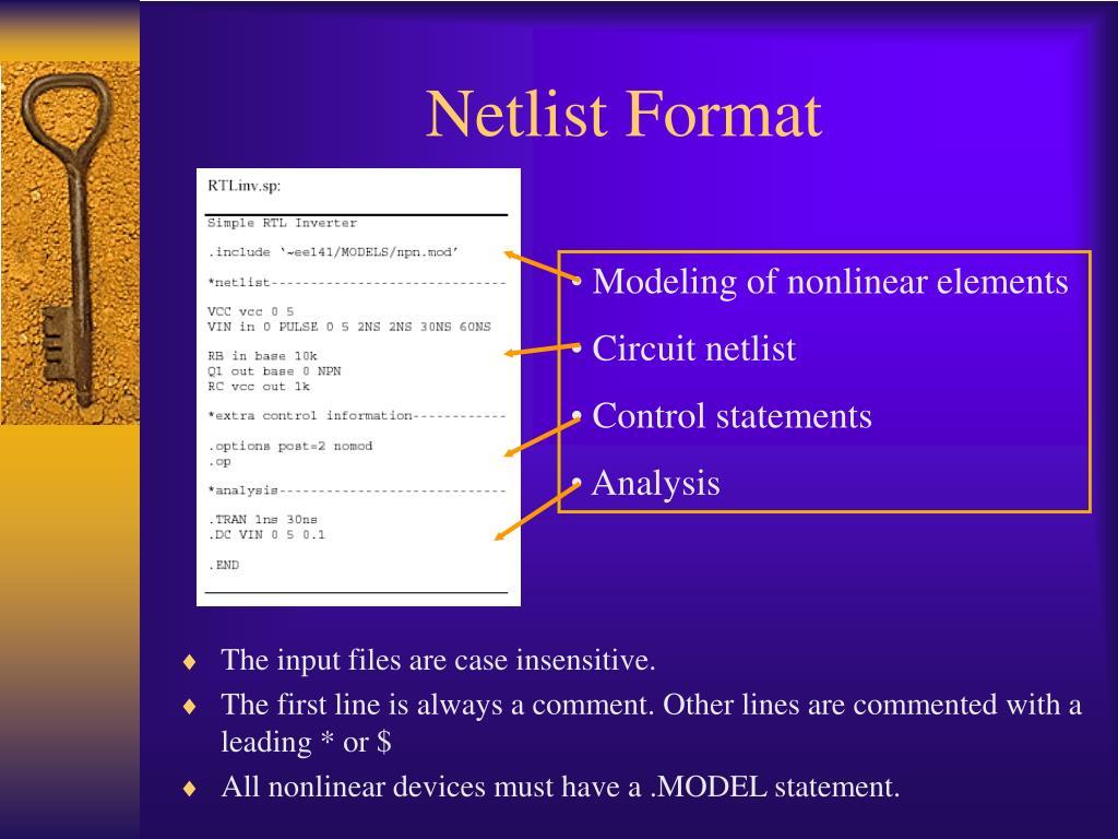 Netlist Format