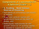 components of a successful ict services cluster cont