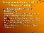 components of a successful ict services cluster cont2