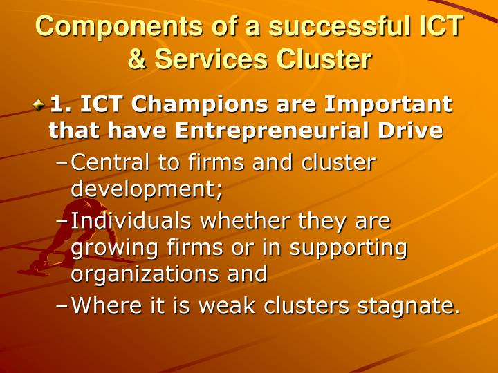 Components of a successful ICT & Services Cluster