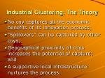 industrial clustering the theory