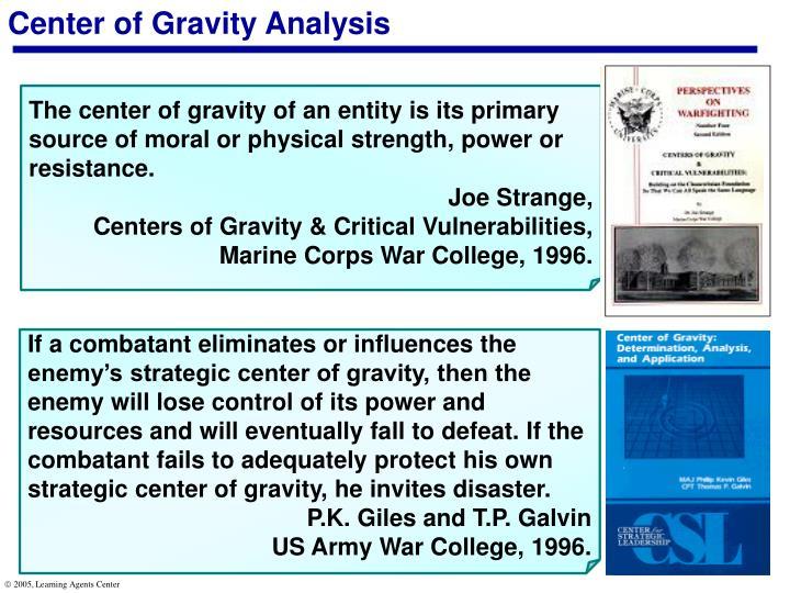 Center of Gravity Analysis