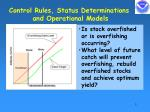 control rules status determinations and operational models