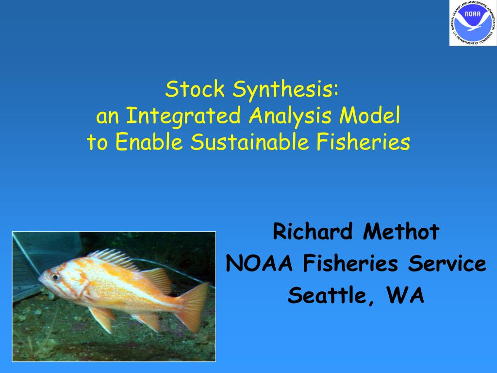 stock synthesis an integrated analysis model to enable sustainable fisheries l.