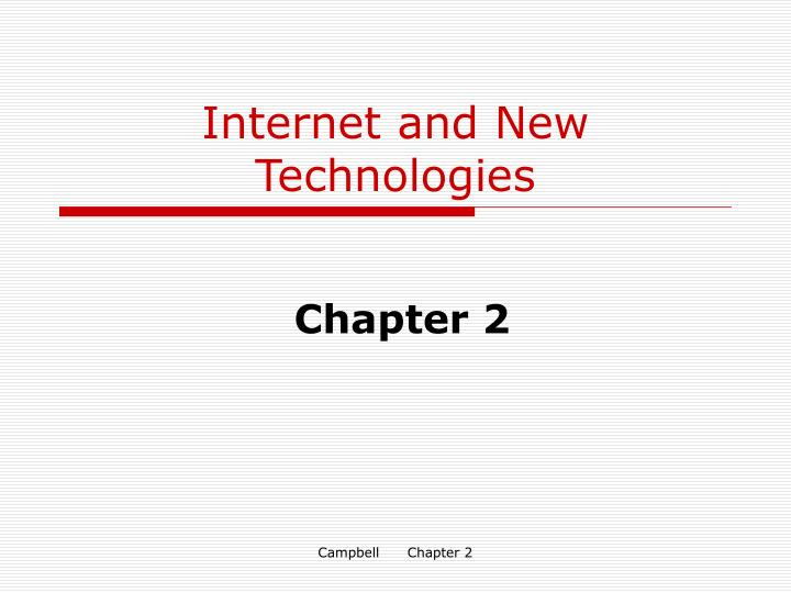 internet and new technologies n.