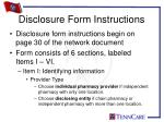disclosure form instructions