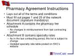 pharmacy agreement instructions