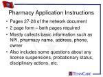 pharmacy application instructions