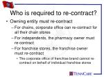 who is required to re contract