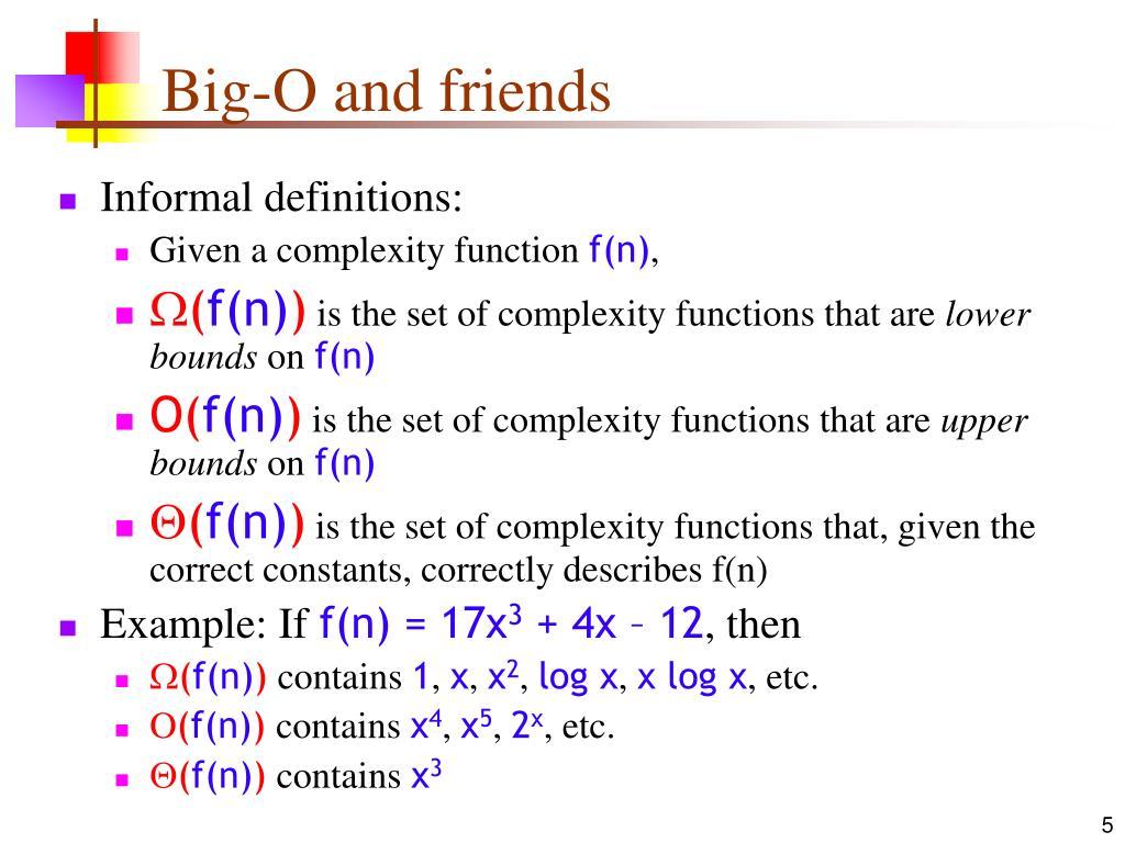 Big-O and friends