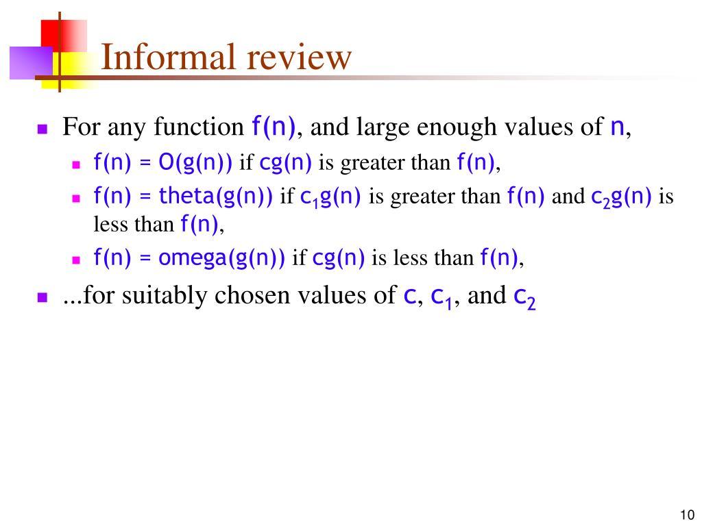 Informal review