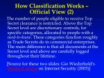 how classification works official view 2