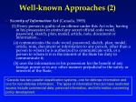 well known approaches 2