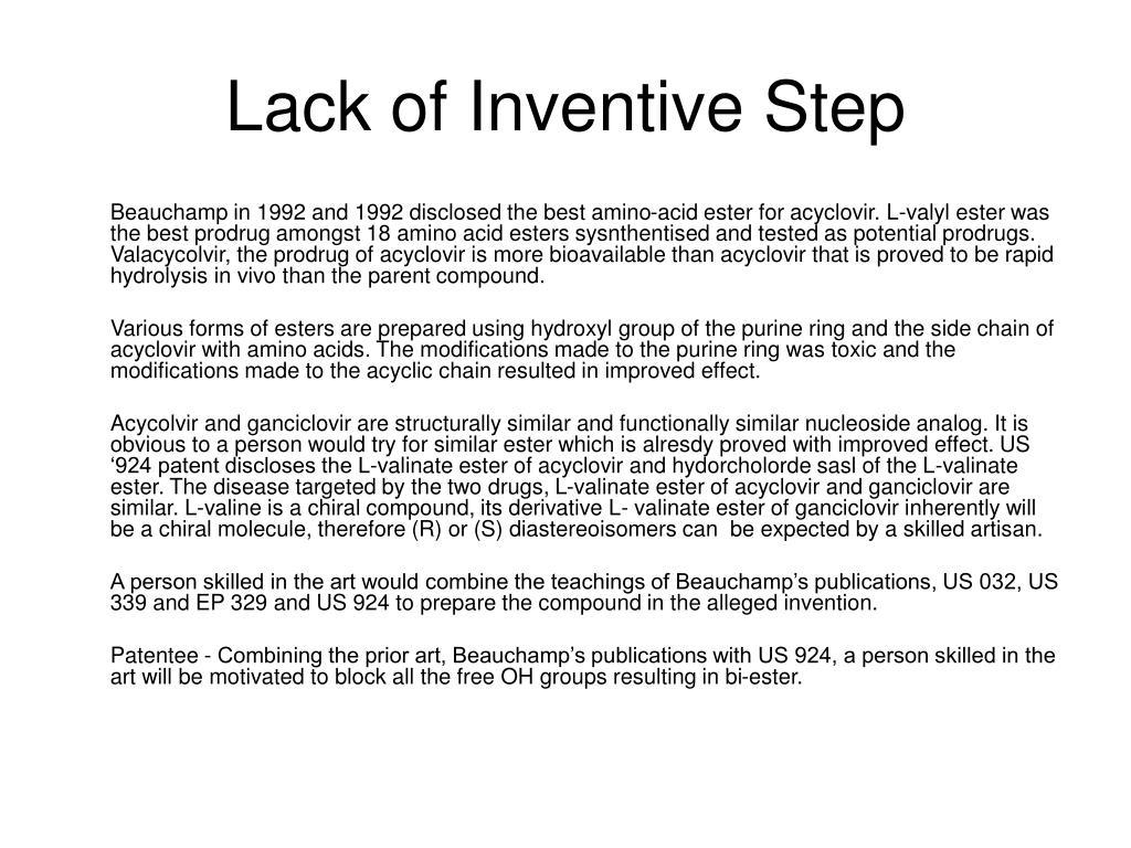 Lack of Inventive Step
