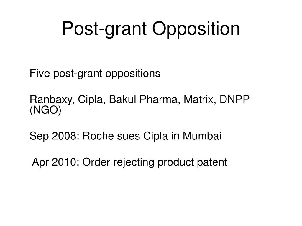 Post-grant Opposition