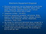 electronic equipment disposal