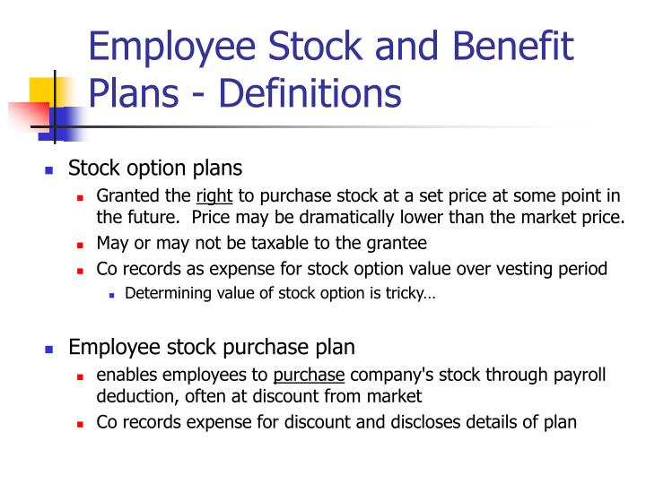 Stock options are often used to encourage employees to quizlet