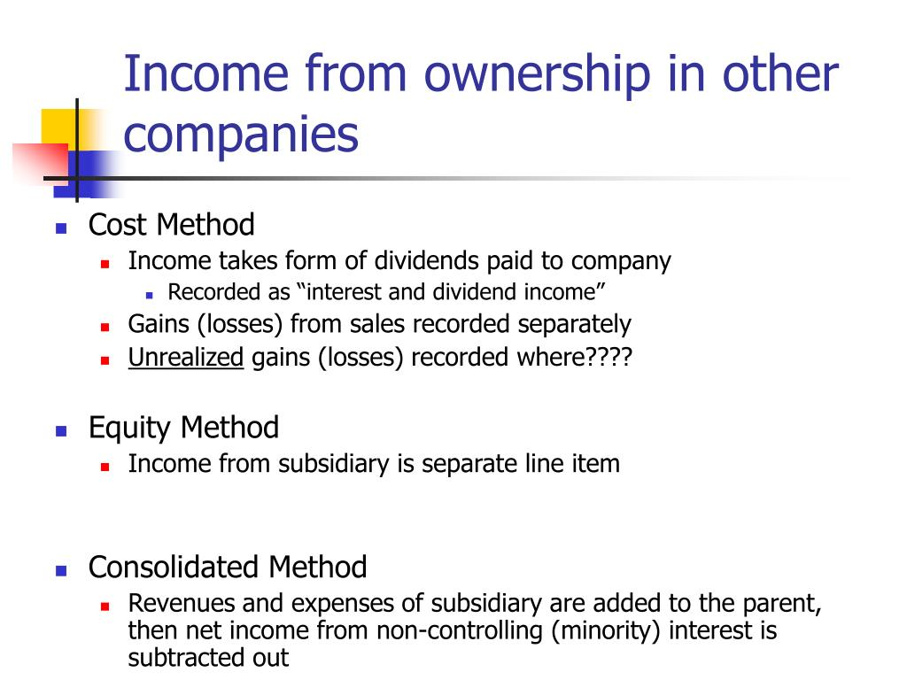 Income from ownership in other companies