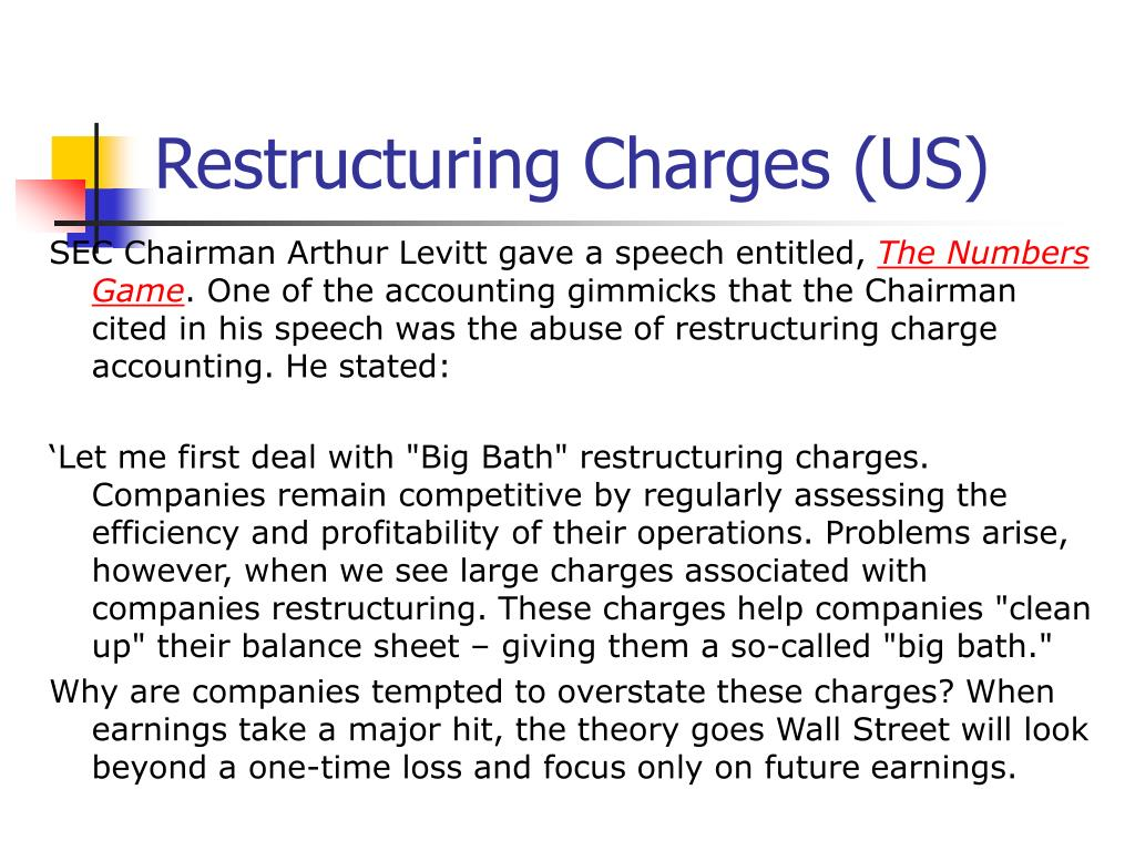 Restructuring Charges (US)