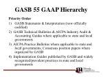 gasb 55 gaap hierarchy14