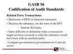 gasb 56 codification of audit standards5