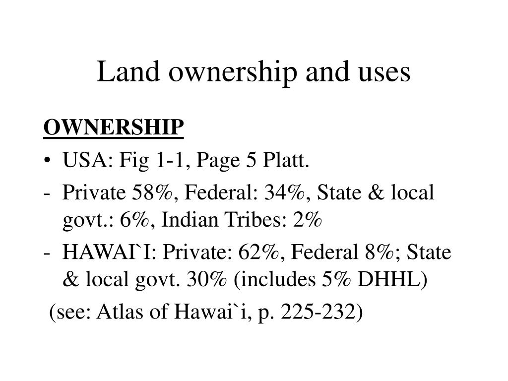 Land ownership and uses