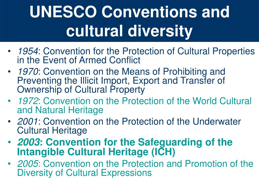 UNESCO Conventions and cultural diversity