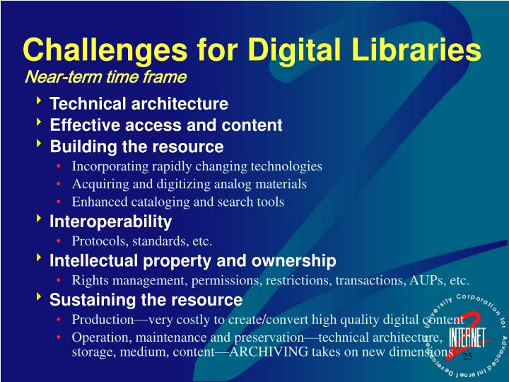 Challenges for Digital Libraries