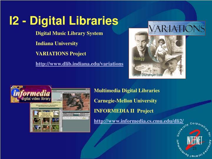 I2 - Digital Libraries