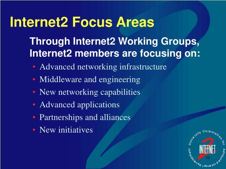 Internet2 Focus Areas