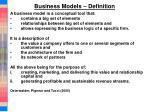 business models definition1