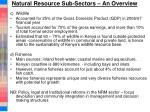 natural resource sub sectors an overview2