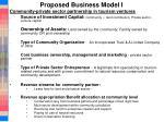 proposed business model i