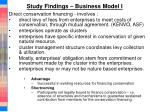 study findings business model i