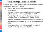 study findings business model ii