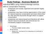 study findings business models iii