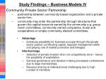 study findings business models iv