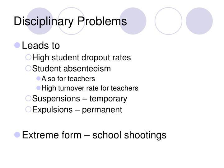 Disciplinary problems3