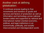 another crack at defining globalization