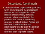 discontents continued11