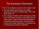 the economic dimension
