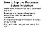 how to improve processes scientific method