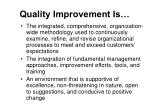 quality improvement is