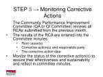 step 5 monitoring corrective actions