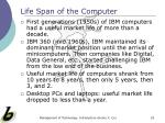 life span of the computer