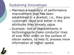 sustaining innovations